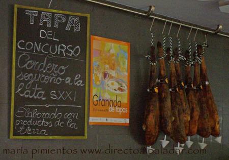 Cartel del concurso en el Restaurante Oleum