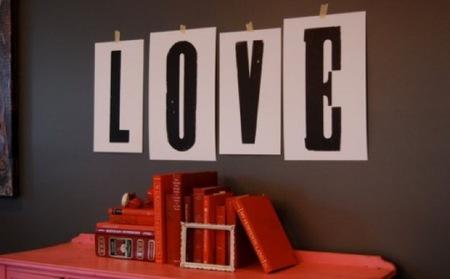 Una buena idea: letras gigantes pintadas o impresas para decorar