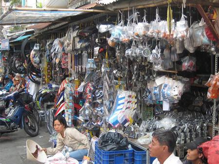 Mercadillo de motos en Saigón