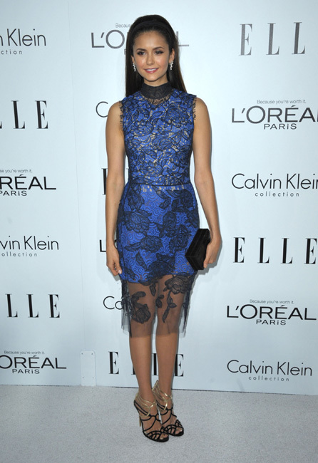 fiesta Elle Women in Hollywood 2012 nina dobrev