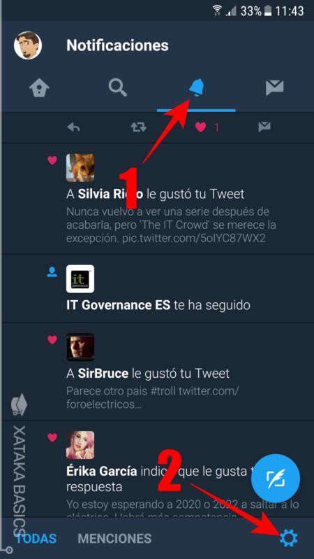 Configuracion De Notificaciones En Twitter