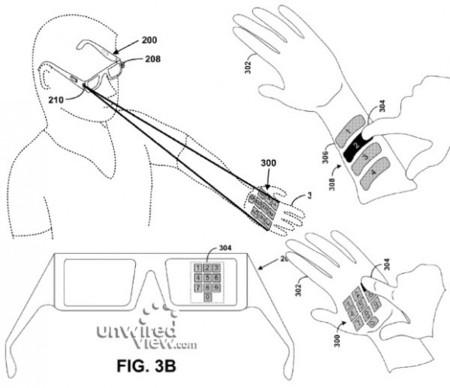 ¿Google Glass con teclado proyectado con láser? Una patente dice que es probable