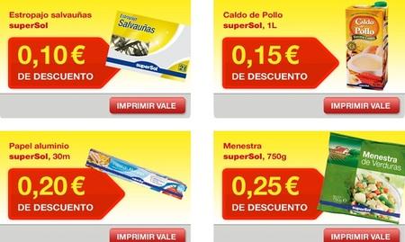 ¿Conocía los cupones web de supermercados Supersol?