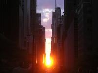 Manhattanhenge, el espectáculo que el sol brinda en Manhattan
