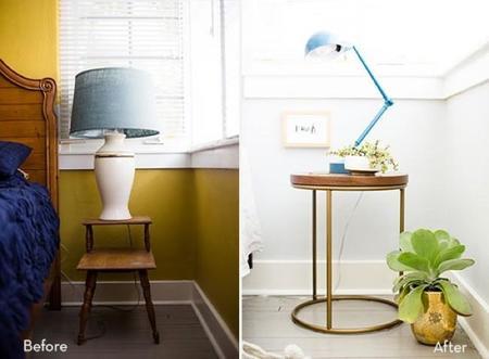 Antes y después: un dormitorio que se pasa al blanco