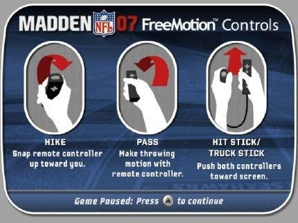 E3, Madden NFL 07 para Wii: tabla de movimientos y capturas