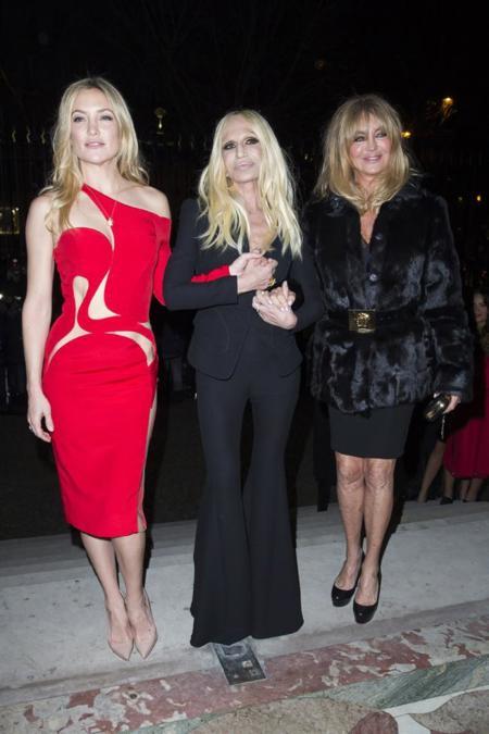 Kate Hudson en el desfile de Alta Costuta de Versace