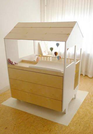 Nina\'s House, la cuna del bebé dentro de una casita