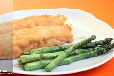 Salmón en tempura con mayonesa de wasabi. Receta