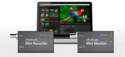UltraStudio Mini Recorder y Mini Monitor, nuevas soluciones de vídeo de BlackMagic Design