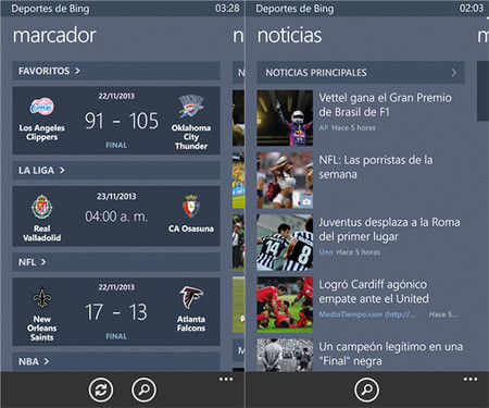 Deportes de Bing
