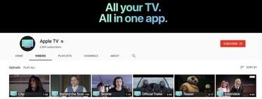 Apple lanza un nuevo canal de 'Apple TV' en YouTube