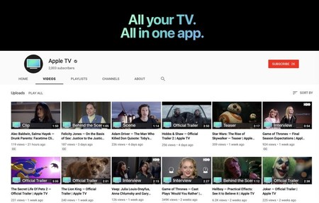 Apple lanza un nuevo canal de 'Apple TV' en YouTube
