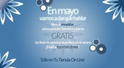 Movistar regala llamadas los fines de semana del verano, en su tienda online
