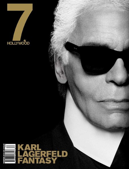 Karl Lagerfeld Cover 7 Hollywood Magazine January 2014