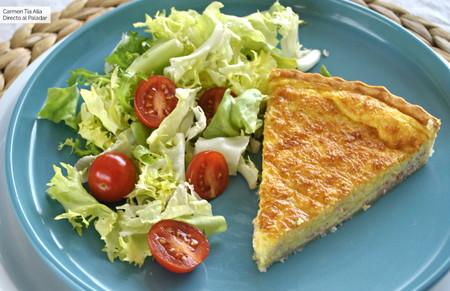 Quiche de jamón y queso: receta fácil para una cena socorrida
