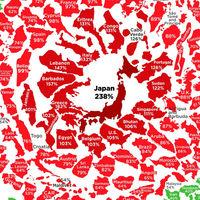La deuda de todos los países del mundo, explicada en un sólo gráfico