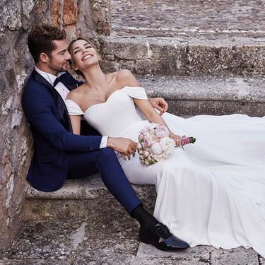 David Bisbal y Rosanna Zanetti se han casado, y tenemos todos los detalles del vestido que ha lucido la modelo