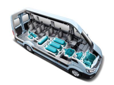 Pila de combustible de hidrógeno para el Hyundai H350, ecología también para los comerciales