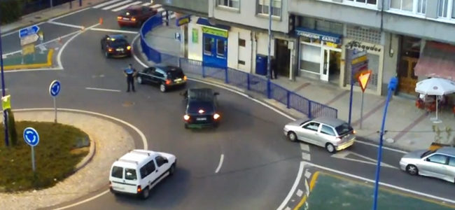 Policía local rotonda