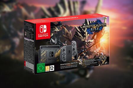 La nueva Nintendo Switch edición limitada Monster Hunter Rise con el juego incluido está más barata en Amazon, por 389 euros