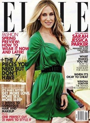 Sarah Jessica Parker, portada de enero de Elle USA