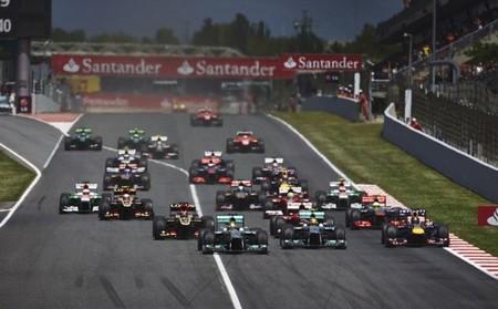 Salida del GP España 2013