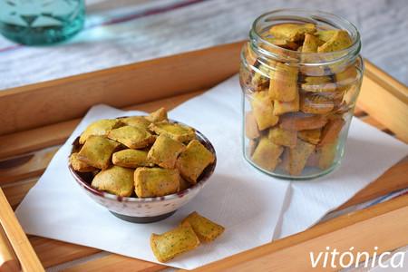 Galletas Saladas O Crackers De Harina De Garbanzos