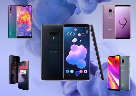 HTC U12+, comparativa: así queda frente al Galaxy S9, OnePlus 6,  P20 Pro y el resto de buques insignia Android