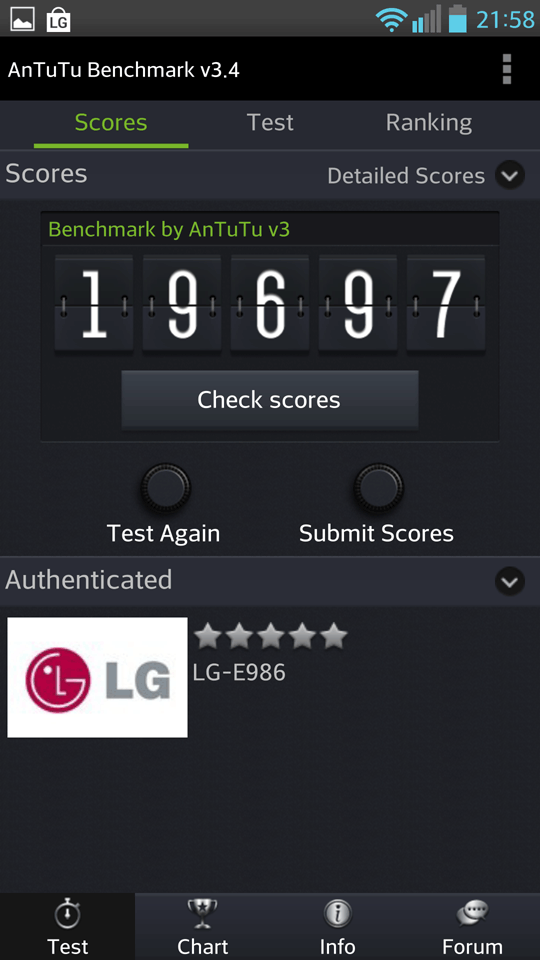 LG Optimus G Pro, benchmarks