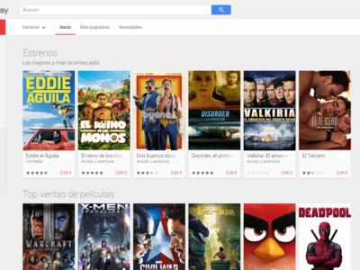 El 4K llegará a Google Play Movies a partir de noviembre