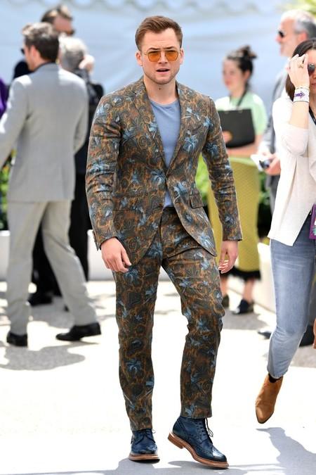 Taron Egerton Apuesta Por Los Estampados Para La Presentacion De Rocketman En Cannes 03