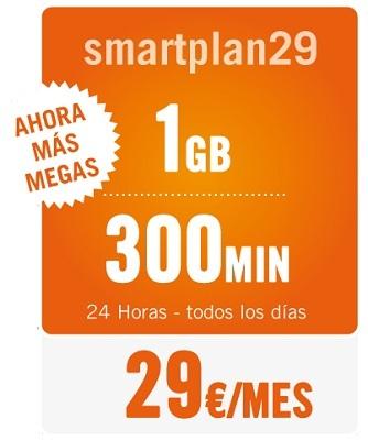 Happy Móvil aumenta a 1 Gb su Smartplan 29
