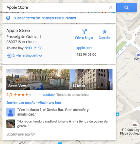 Googlemaps Lateral