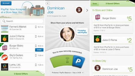 PayPal rediseña su aplicación para móviles y permitirá pagar con ella en los locales