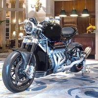 ¡Brutal! 3.000 cc, 480 CV y 362 km/h para esta moto con motor V8 hecho con dos bloques de Hayabusa