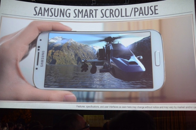 Smart Scroll Samsung Galaxy S4