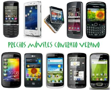 Comparativa precios de móviles más económicos para la campaña de verano 2012