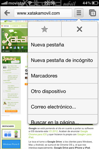 Foto de Google Chrome en iOS (10/15)