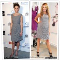 Vestido de Jill Stuart: ¿Hilary Swank o  Ashley Tisdale?