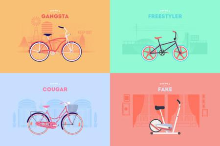 bicicletas ilustradas