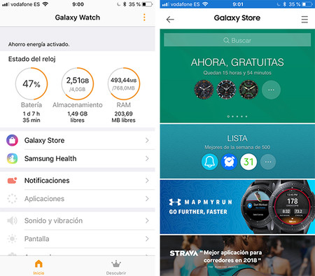 Galaxy Watch Aplicacion