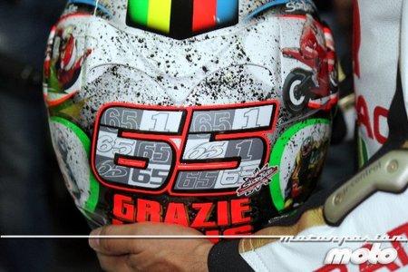 MotoGP Valencia 2011: la decoración de Loris Capirossi el día de su despedida