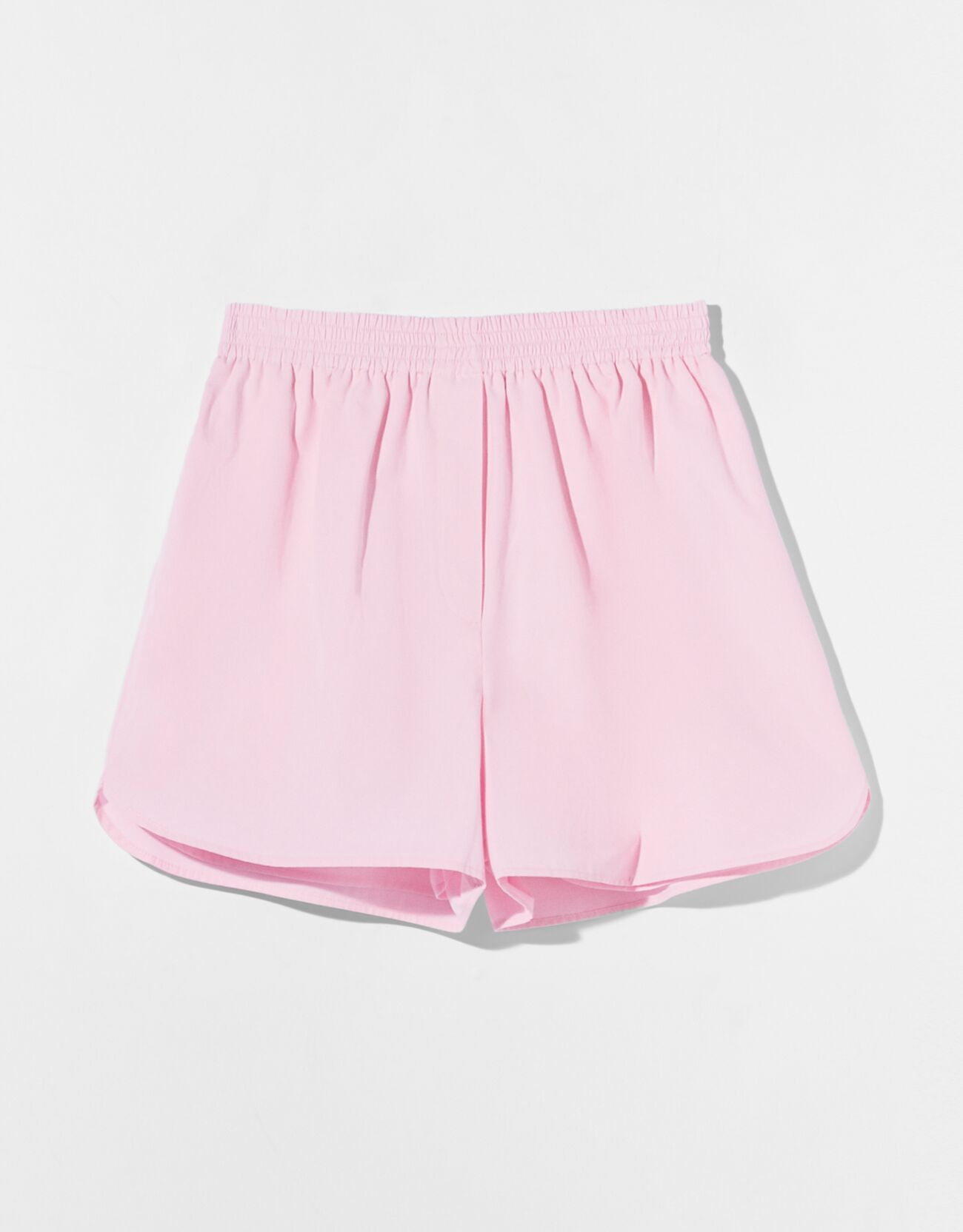 Short popelín de color rosa.
