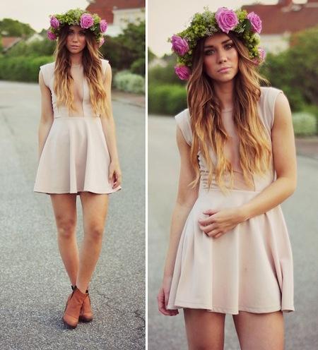 ¡Anímate con una corona de flores en el pelo!