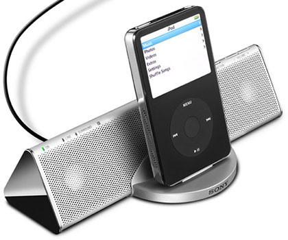 Altavoces de Sony para el iPod
