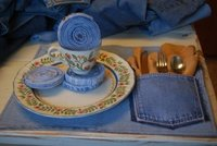 Recicladecoración: servicios de mesa con tus vaqueros