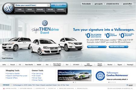 Web Volkswagen USA
