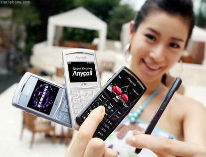 Samsung X820, en diferentes colores