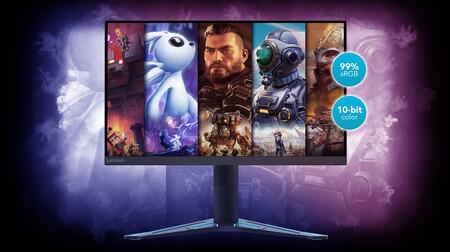 Lenovo estrena monitores gaming: los modelos G27q-20 y G27-20 llegarán con panel IPS de 27 pulgadas, 400 nits y hasta 165 Hz